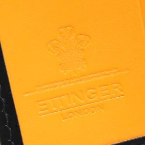 エッティンガー キーケース メンズ ブライドル ブラック&パネルハイドイエロー 840AJR BH BLACK ETTINGER