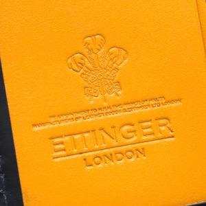 エッティンガー キーケース メンズ ブライドル ネイビー&パネルハイドイエロー 840AJR BH NAVY ETTINGER