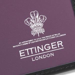 エッティンガー 長財布【札入れ】 財布 メンズ スターリング ブラック&パープル 953AJR ST PURPLE ETTINGER
