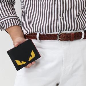フェンディ 二つ折り財布 財布 メンズ モンスター バッグ バグズ ブラック&ジャッロイエロー&ロッソレッド 7M0001 O73 F0U9T FENDI