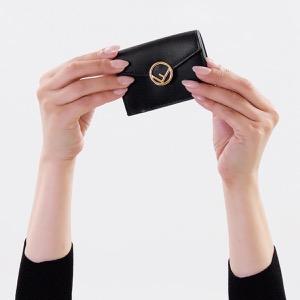 フェンディ 三つ折り財布/ミニ財布 財布 レディース エフ イズ フェンディ ブラック 8M0395 A0KK F0KUR FENDI