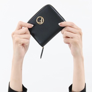 フェンディ 二つ折り財布/ミニ財布 財布 レディース エフ イズ フェンディ ミディアム ブラック&オーロソフト 8M0407 A18B F0KUR FENDI