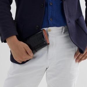 フェリージ 長財布 財布 メンズ レディース クロコ型押し ブラック 3005 SA 0003 FELISI