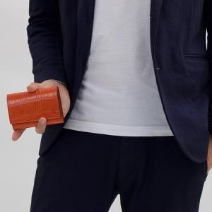 フェリージ カードケース メンズ レディース アランチョオレンジ 450 SA 0009 FELISI