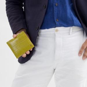フェリージ 二つ折り財布 財布 メンズ クロコ型押し カードケースセット ヴェルデグリーン 452 SA 0008 FELISI