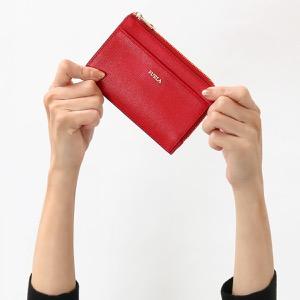 フルラ コインケース【小銭入れ】/クレジットカードケース 財布 レディース バビロン ミディアム ルビーレッド PR75 B30 RUB 871009 FURLA