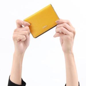 フルラ 名刺入れ/カードケース レディース バビロン ビジネス S ジュネストライエロー PS04 B30 649 979005 FURLA