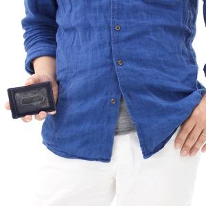 グレンロイヤル カードケース メンズ ダークブルー 032997 DARKBLUE GLENROYAL