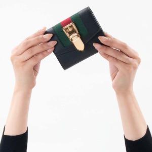 グッチ 三つ折り財布 財布 レディース シルヴィ ブラック 476081 CWLSG 1060 2019年春夏新作 GUCCI