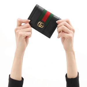 グッチ 二つ折り財布 財布 レディース オフィディア ブラック&グリーン&レッド 523155 DJ2DG 1060 2020年春夏新作 GUCCI