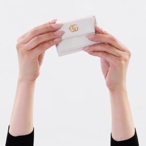 グッチ 三つ折り財布/ミニ財布 財布 レディース プチマーモント オフホワイト 523277 CAO0G 9022 GUCCI
