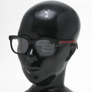 グッチ 伊達メガネ メンズ スクエア プレミア生産終了モデル アレッサンドロ・ミケーレデザイン ウェリントン WEB ブラック&グリーン&トランスペアレントクリア GG0004OA 002 ASI GUCCI