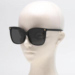 グッチ サングラス レディース スクエア ビー アレッサンドロ・ミケーレデザイン ブラック&グレー GG0022SA 001 ASI GUCCI