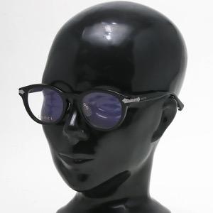 グッチ 伊達メガネ メンズ ラウンド ブラック&トランスペアレントクリア GG0071O 001 INT GUCCI