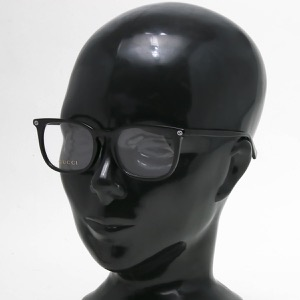 グッチ 伊達メガネ メンズ スクエア ビー ブラック&トランスペアレントクリア GG0122OA 001 ASI GUCCI