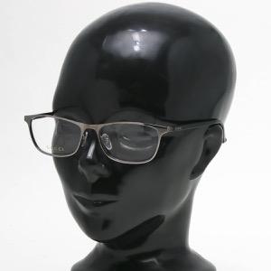 グッチ 伊達メガネ メンズ レディース スクエア ウェリントン WEB ルテニウムガンメタル&ブラック&トランスペアレントクリア GG0133OJ 002 JPN GUCCI