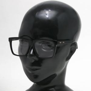 グッチ 伊達メガネ メンズ スクエア ブラック&トランスペアレントクリア GG0268OA 001 ASI GUCCI