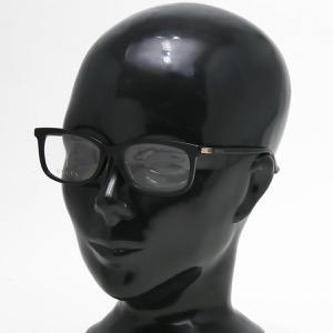 グッチ 伊達メガネ メンズ スクエア WEB ブラック&トランスペアレントクリア GG0296OA 001 ASI GUCCI