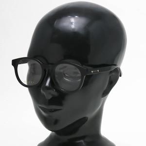 グッチ 伊達メガネ メンズ ラウンド ボストン ブラック&トランスペアレントクリア GG0350OA 001 ASI GUCCI