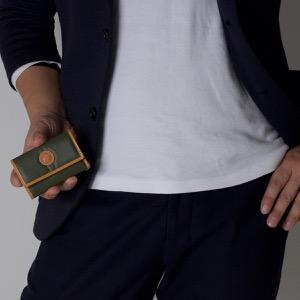 ハンティングワールド キーケース メンズ バチュー オリジン BATTUE ORIGIN グリーン&ビンテージナチュラル 142 10A HUNTING WORLD