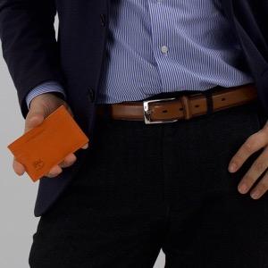 イルビゾンテ カードケース メンズ レディース スタンダード STANDARD オレンジ C0567 P 166 IL BISONTE