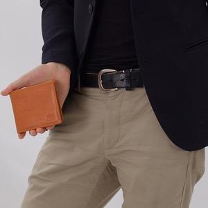 イルビゾンテ 二つ折り財布 財布 メンズ レディース スタンダード 【STANDARD】 ?キャラメルブラウン C0817 P 145 IL BISONTE