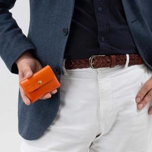 イルビゾンテ コインケース【小銭入れ】 財布 メンズ レディース スタンダード オレンジ C0855 P 166 IL BISONTE