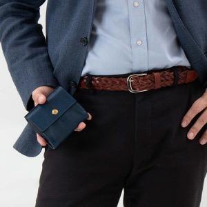 イルビゾンテ 二つ折り財布 財布 メンズ レディース スタンダード ブルー C0910 P 866 IL BISONTE