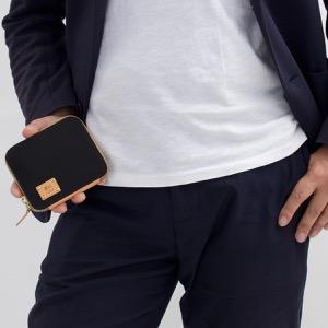 イルビゾンテ 二つ折り財布 財布 メンズ レディース ブラック&ナチュラル C1006 NY T556 IL BISONTE