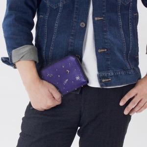 ジミーチュウ 長財布 財布 メンズ レディース カーナビー チャーム ミックス ブライトブルー&ガンメタル CARNABY CCX 183 BRIT BLUE JIMMY CHOO