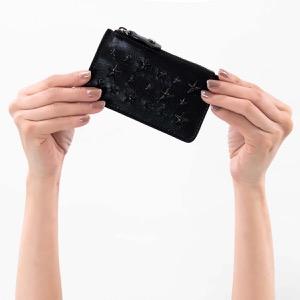 ジミーチュウ コインケース【小銭入れ】 財布 レディース ナンシー エナメル スター スタッズ ブラック NANCY ENL 000074 BLACK BLACK JIMMY CHOO