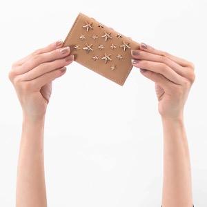 ジミーチュウ カードケース レディース ネロ エナメル スター スタッズ バレットピンク NELLO ENL 005977 BALLET PINK BALLERT PINK JIMMY CHOO