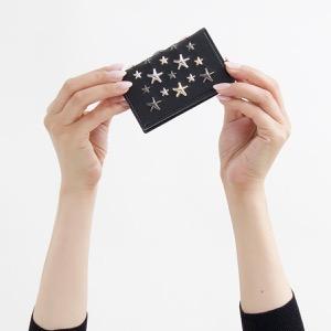 ジミーチュウ カードケース レディース ネロ マルチ メタル スター スタッズ ブラック&メタリック ミックス NELLO LTR 000715 BLACK METALLIC MIX JIMMY CHOO