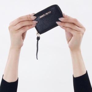 ジミーチュウ コインケース【小銭入れ】 財布 メンズ レディース レイド ブラック REID GRZ 181 BLACK JIMMY CHOO