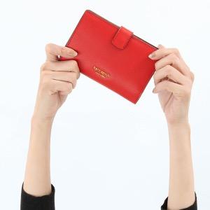 ケイトスペード 二つ折り財布 財布 レディース シルヴィア ミディアム ホットチリレッド PWRU7230 611 2019年秋冬新作 KATE SPADE