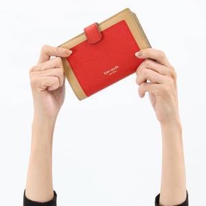 ケイトスペード 二つ折り財布 財布 レディース マルゴー ミディアム ホットチリマルチ PWRU7419 613 2019年秋冬新作 KATE SPADE