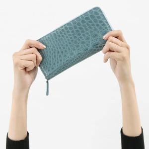 本革 長財布 財布 メンズ レディース クロコ ブルージェーン CRS002P BLUJE Leather
