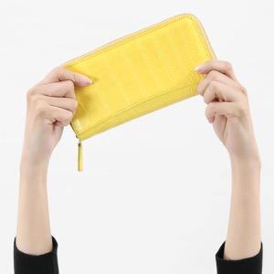 本革 長財布 財布 メンズ レディース クロコ イエロー CRS002P YEL Leather