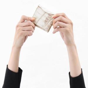 本革 コインケース【小銭入れ】 財布 レディース クロコ ヒマラヤホワイト CRS1012 HIMA Leather