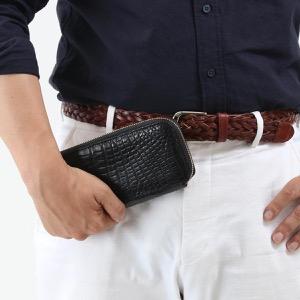 本革 長財布 財布 メンズ レディース クロコ ブラック CRS163JG BLK Leather