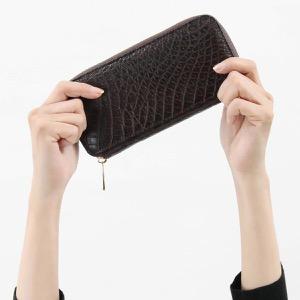 本革 長財布 財布 メンズ レディース クロコ ダークブラウン CRS163JG DBR Leather