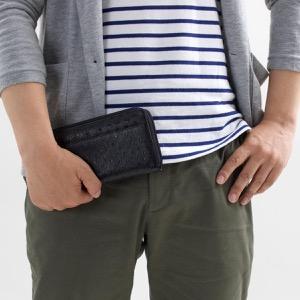 本革 長財布 財布 メンズ レディース オーストリッチ OSTRICH ブラック OKN1824H BK Leather