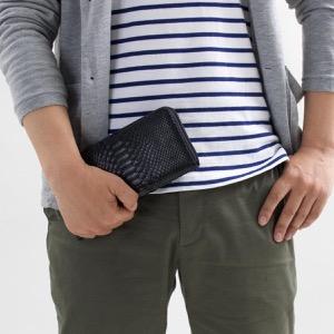 本革 長財布 財布 メンズ レディース パイソン PYTHON ブラック OKU6754 BK Leather