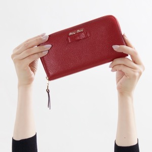 ミュウミュウ 長財布 財布 レディース マドラス フィオーコ リボン フォーコレッド 5ML506 3R7 F0JU2 MIU MIU