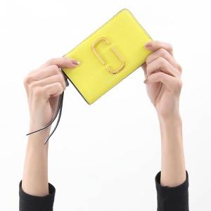 マークジェイコブス 二つ折り財布 財布 レディース スナップショット サンイエローマルチ M0013356 787 2020年春夏新作 MARC JACOBS