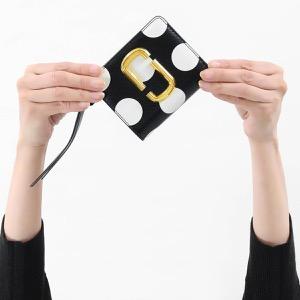 マークジェイコブス 二つ折り財布 財布 レディース スナップショット ドット ブラックマルチ M0014837 002 2019年春夏新作 MARC JACOBS