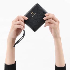 マークジェイコブス 二つ折り財布 財布 レディース ザ ソフトショット ミニ ブラック M0015122 001 2019年春夏新作 MARC JACOBS