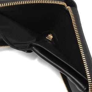 メゾンマルジェラ 二つ折り財布/ミニ財布 財布 レディース ステッチ ブラック S56UI0111 P4303 T8013 MAISON MARGIELA