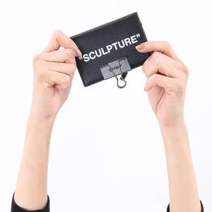 オフホワイト クレジットカードケース メンズ レディース スカルプチャー ブラック&ホワイト OWNC009S194230691001 OFF-WHITE