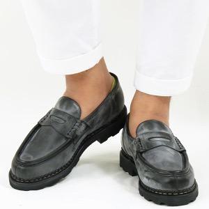 パラブーツ ローファー/シューズ/革靴 メンズ ランス マルシェ ブラック REIMS NOIRE-LIS NOIR 099412 PARABOOT